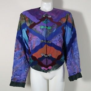 3for$80✨ SILK Vintage One tie dyed corset jacket